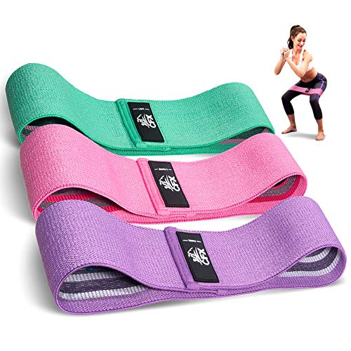 CFX Resistance Hip Bands, Fitnessbänder Set Yogagurt in 3 Zugkraftstärken Trainingsband Yogaband ALS...