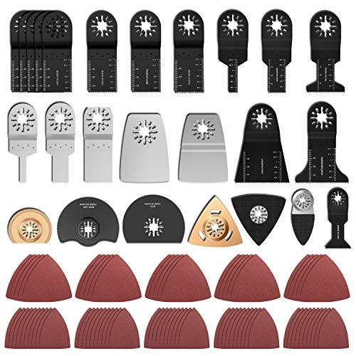 100 Stk Oszillierendes Zubehör Set Mix Multitool Sägeblätter Multifunktionswerkzeug Geeignet für Fein...