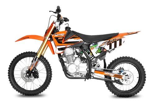 Nitro Motors Dirtbike Hurricane 250cc 5-Gang Manuel 19'/16' E-/Kick-Start Bike Quad ATV Bike Pocket Kinderbike...