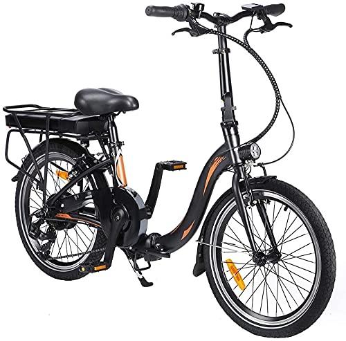 Elektro Faltfahrrad 20 Zoll Klappfahrrad E-Bike Faltbares Fahrrad Elektro Faltrad Klapprad Mit LED-Licht Ebike...
