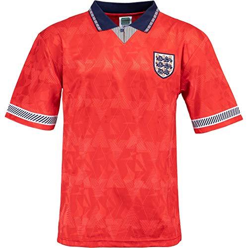 Score Draw World Cup 1990 England Retro Away Trikot (XL, red)