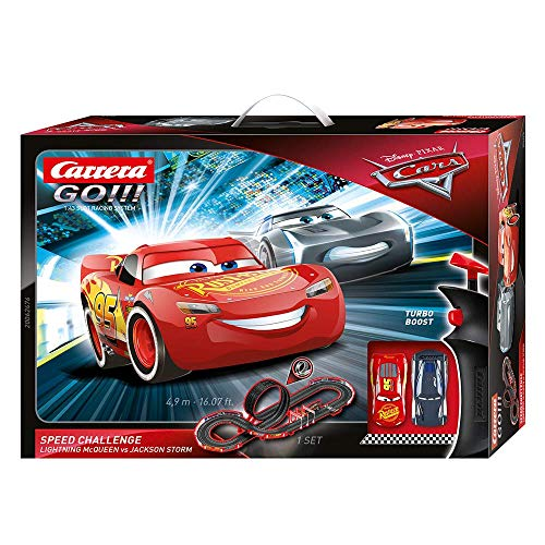Carrera GO!!! Disney Pixar Cars Speed Challenge Rennstrecken-Set   4,9m elektrische Carrerabahn mit Lightning...