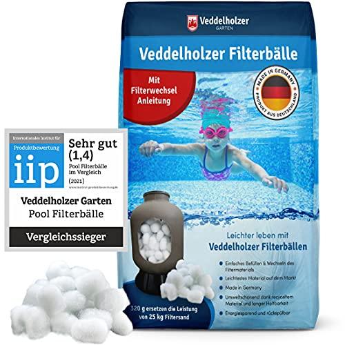 Veddelholzer Pool Filterbälle leichtestes Material für Beste Leistung ersetzt 25kg Filtersand Quarzsand aus...