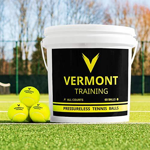 Vermont Tennisbälle | Training Tennisbälle - ITF-genehmogte Tennisbälle - alle Spielplatzoberfläche...