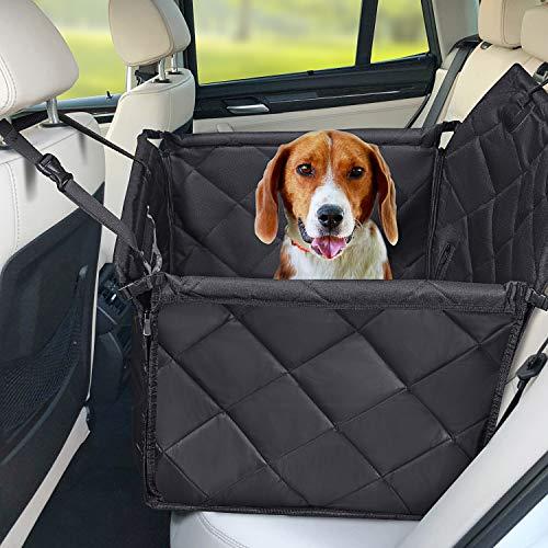 Hundesitz Auto - Hochwertiger Hunde Autositz Rückbank groß für kleine bis mittlere Hunde- Autositzbezug mit...