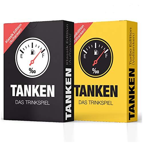 TANKEN das Trinkspiel 2er Set - Bundle von Klassik und Turbo Edition Kartenspiel für Erwachsene, Lustiges...