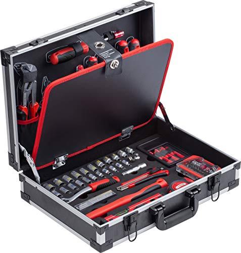 Meister Werkzeugkoffer 109-teilig - Stabiler Alu-Koffer - Werkzeug-Set - Für Haushalt, Garage & Werkstatt /...