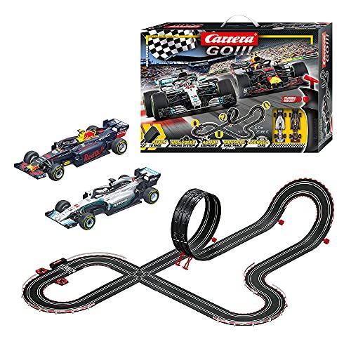 Carrera GO!!! Max Speed Rennstrecken-Set   6,3m elektrische Rennbahn mit Mercedes-AMG F1 W09 EQ Power+ & Red...