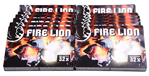 Mediablue Anzündwürfel Kaminanzünder Kohle-Anzünder BBQ-Grillanzünder Ofenanzünder (12 Pakete a 32)