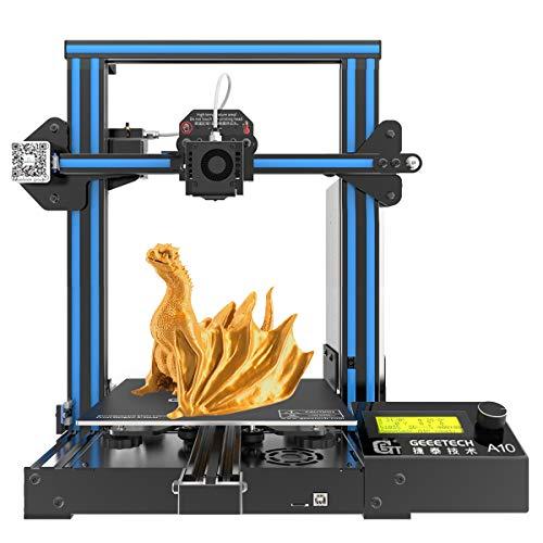 GEEETECH A10 Pro 3D Drucker, Aluminium Prusa I3 Typ, Schnelle Montage DIY Kit mit eine Druckfläche von...