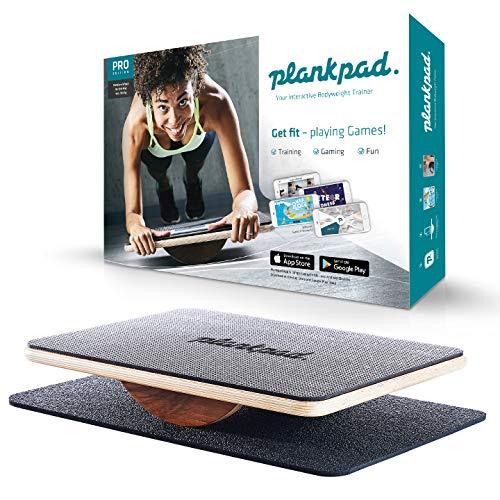 Plankpad PRO – interaktiver Ganzkörper-Trainer & Balance Board - Plank Bauchmuskel Trainer inkl....