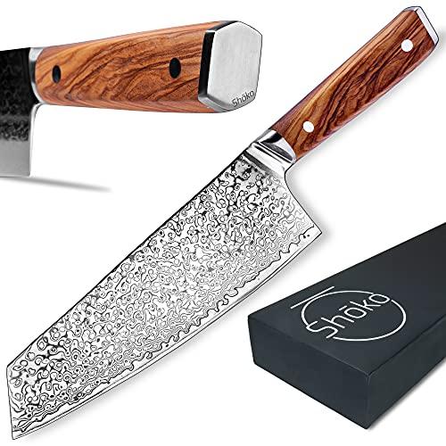 Shoko® Damastmesser Kiritsuke I japanisches Kochmesser, scharfe 2mm Klinge I Damast-Küchenmesser mit...