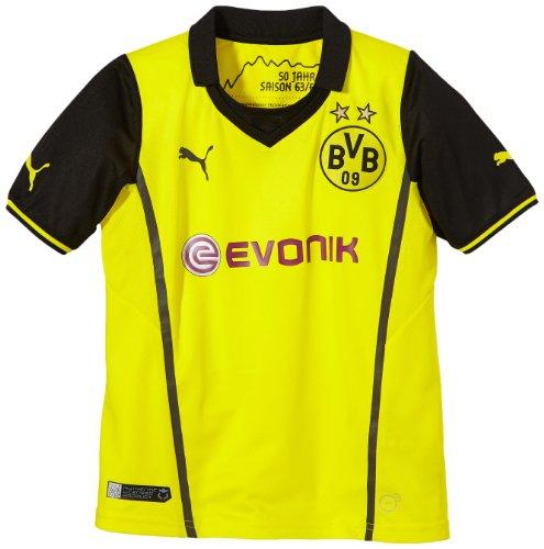 PUMA Kinder BVB UEFA Champions League Trikot 2013/14, blazing yellow-black, 176, 743562 01