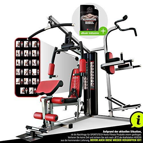 Sportstech Einzigartige 45in1 Premium Kraftstation HGX200 für unzählige Trainingsvarianten...
