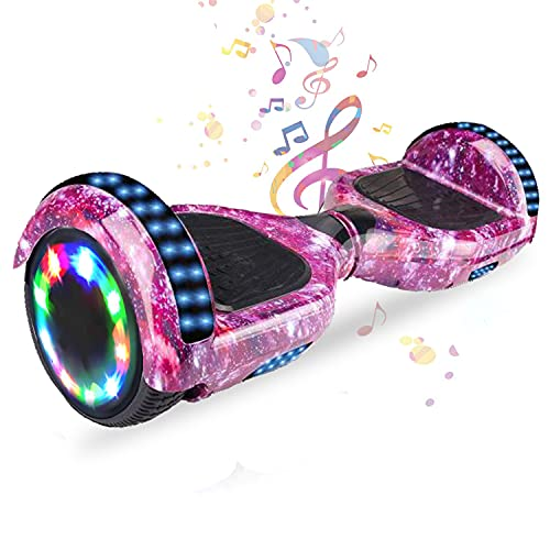 HST 6,5 Zoll Hoverboard Self-Balancing Scooters Elektroroller mit Bluetooth und LED-Beleuchtung, Offroad...