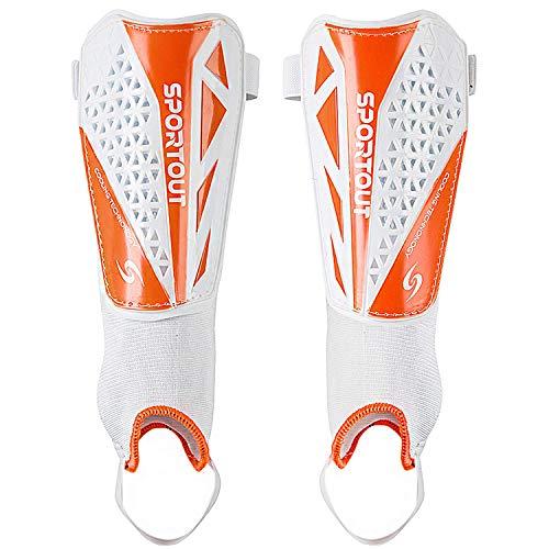 Sportout Kids Jugend Erwachsene Fußball Schienbeinschoner mit schützender Hartschale, bietet umfassenden...