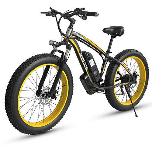 XXCY E-Bike Herren E-Bike Fat Snow Bike 1000W-48V-13Ah Li-Batterie 26 x 4.0 Mountainbike MTB Shimano 21-Gang...