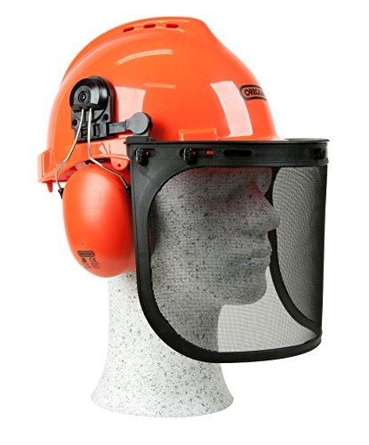 Oregon-Yukon-Kettensägen-Sicherheitshelm mit Gehörschutzmanschette und Netzvisier, Schlagfeste, Bequeme...