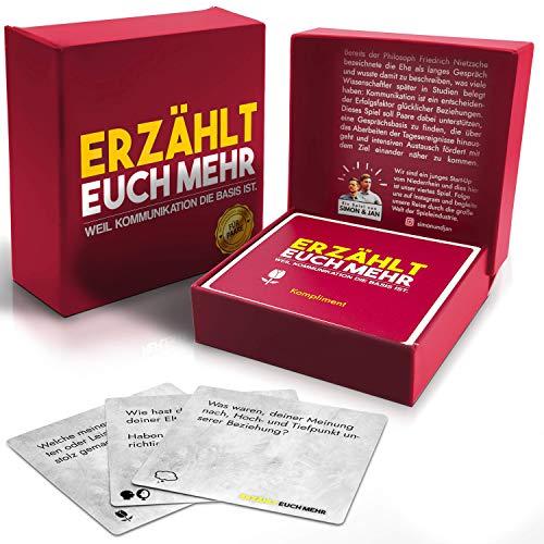 Erzählt euch mehr (für Paare) Gesellschaftsspiel für 2 Personen- Spiel für mehr Achtsamkeit und Reflexion...