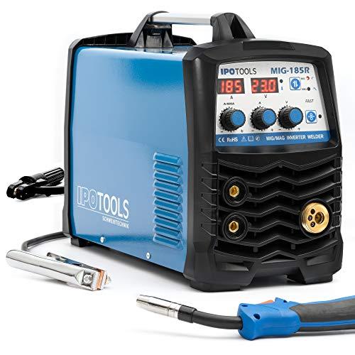 IPOTOOLS MIG-185R Inverter Schweißgerät MIG MAG - Schutzgas Schweissgerät mit 185 Ampere auch...