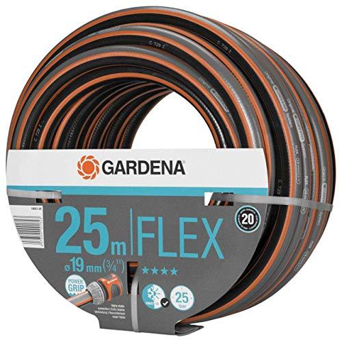 Gardena Comfort FLEX Schlauch 19 mm (3/4 Zoll), 25 m: Formstabiler, flexibler Gartenschlauch mit...
