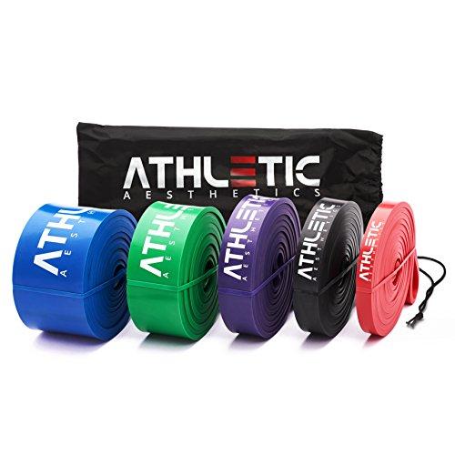 Premium Widerstandsbänder + Tasche und Übungsanleitung [Einzeln und im preiswerten Set] - Fitnessbänder /...