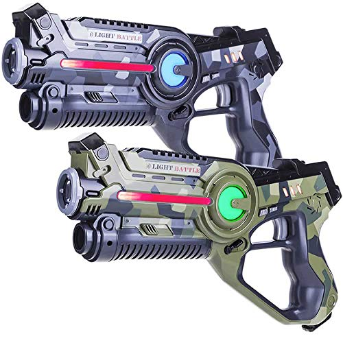 Light Battle Active Lasergame Set - 2X Laserpistole (camo grau, camo grün) - LBAP10256D