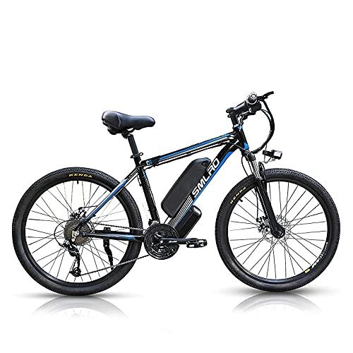 26 Zoll E-Bike Mountainbike C6, Elektrofahrrad E Bike mit 1000W Motor 48V 13Ah Li-Ionen-Akku und...