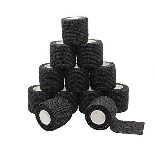 Fuluning, 12 Stück, 5,1 cm x 5 meter Tapeverband, Selbsthaftend Tape, stark Sport Tape für Handgelenk,...