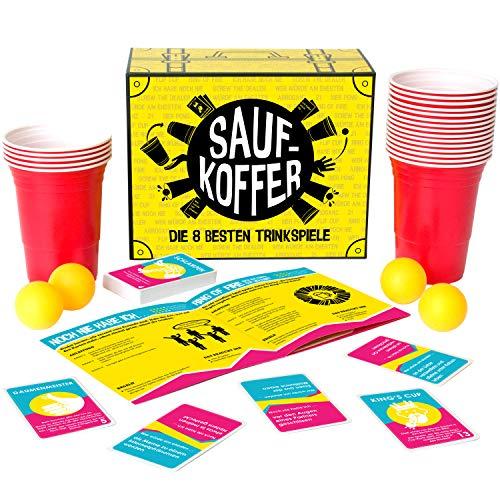 Gutter Games Saufkoffer - Die 8 besten Trinkspiele (Bier Pong, Noch nie Habe ich, Ring of Fire und mehr) |...