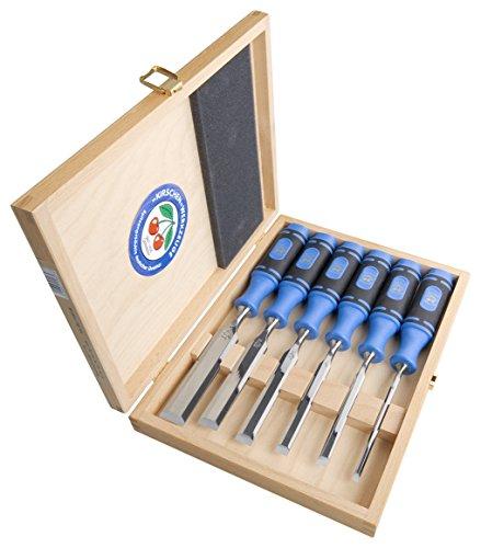 Kirschen 1108000 Stechbeitel / Stemmeisen Satz 1008, 6-teilig ; kurze, leichte Beitel, Spezial-Werkzeugstahl,...
