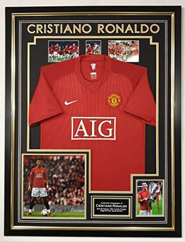 WWW.SIGNEDMEMORABILIASHOP.CO.UK Signiertes Foto von Cristiano Ronaldo von Manchester United, mit Trikot