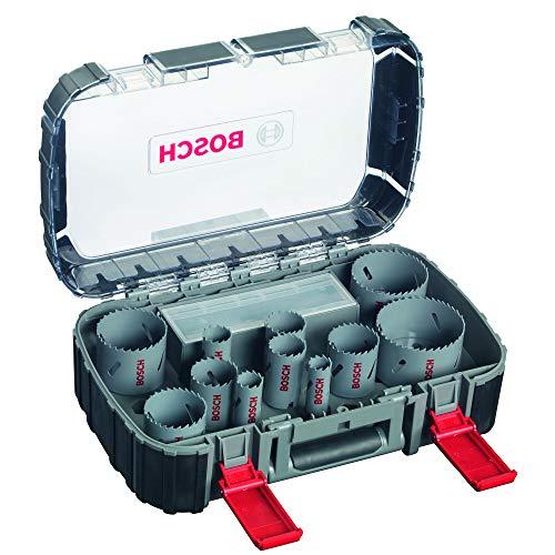 Bosch Professional 17-teiliges HSS Bimetall Lochsägen Set (für Metall, Aluminium, rostfreiem Edelstahl,...