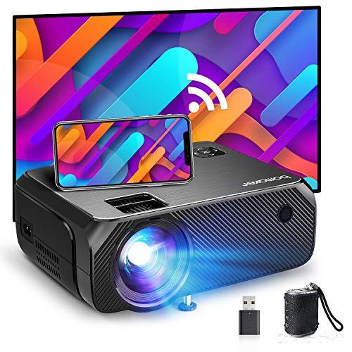 Bomaker Mini Beamer WiFi, 6000 Heimkino Beamer, 1080P Full HD Supported, 300' Display, niedrig als 35ms...