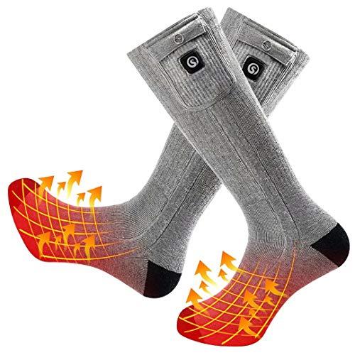 Beheizte Socken Herren Damen,7.4V 2200MAH Elektrische Wiederaufladbarem Batterie Socken,Wärmende...