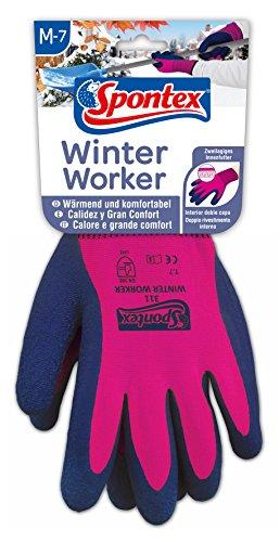 Spontex Winter Worker Handschuhe, Arbeitshandschuhe mit Innenfütterung für hohen Kälteschutz, mit...
