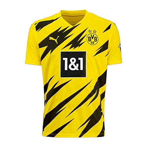 Puma BVB Home Trikot Replica 20/21 T-Shirt, Cyber Yellow Black, 152