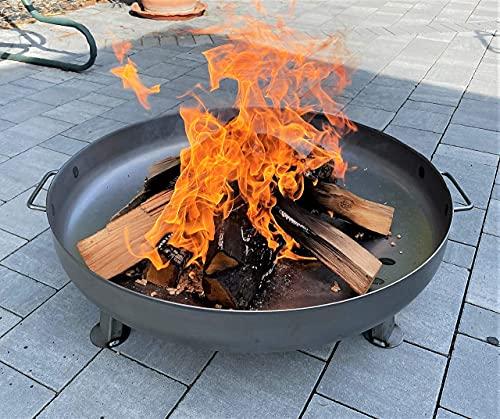Czaja Stanzteile Feuerschale Bonn Ø 80 cm - mit Wasserablaufbohrung - Feuerschalen für den Garten, Terrasse...