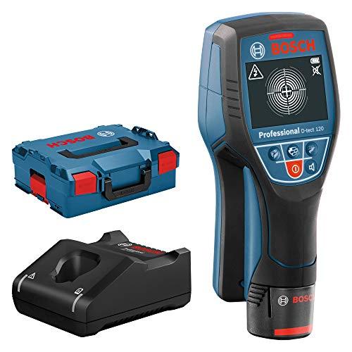 Bosch Professional 12V System Ortungsgerät D-tect 120 (1 Akku 12V, max. Ortungstiefe...