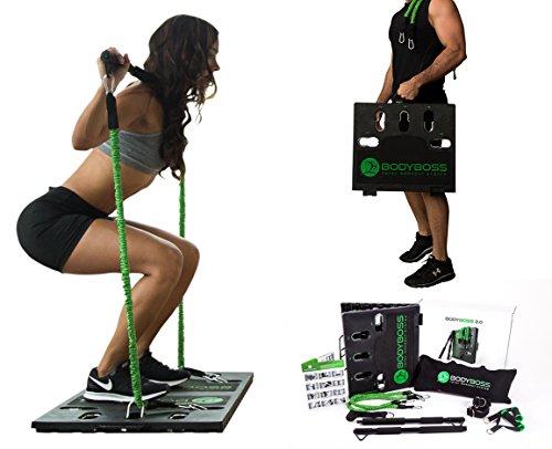 BodyBoss 2.0: Ein tragbares Fitnessstudio für zu Hause – vollständiges Fitnessstudio mit allem Zubehör.,...