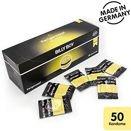 Billy Boy Perlgenoppt Kondome mit Zarten Perlnoppen Premium Box , Transparent, 50er Pack