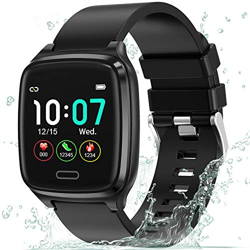 L8star Smartwatch, Fitness Tracker Uhr Touch Screen Fitness Armband Pulsuhr IP67 Wasserdicht Smartwatch...