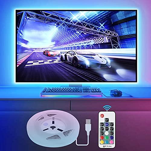 Vansky 2M LED TV Hintergrundbeleuchtung für HDTV/Gaming PC LED Streifen RGB Neon Akzent TV Beleuchtung für...
