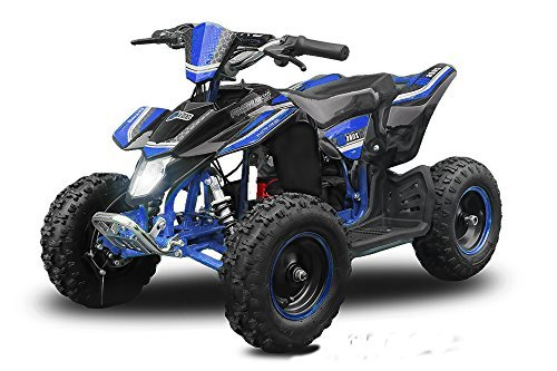 Eco Mini Quad 800W Madox Premium 4' 36V ATV Bike Pocket Miniquad Kinderquad Kinderfahrzeug (Blau)