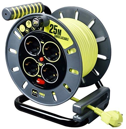 Masterplug OME25164SL-PX Rewind cord, 3000 W, 250 V, grau / Pistazien grün