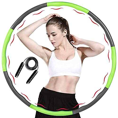 ACPURI Hula Hoop Reifen Erwachsene, Fitness Hoola Hoop Kinder Schaumstoff, Abnehmbarer 6-8 Knotens,...
