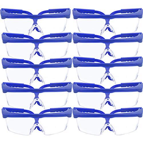 10 Stück Sicherheit Brille & Schutz Brillen, TooTaci verstellbar blau Frames für Kinder Erwachsene Eye...