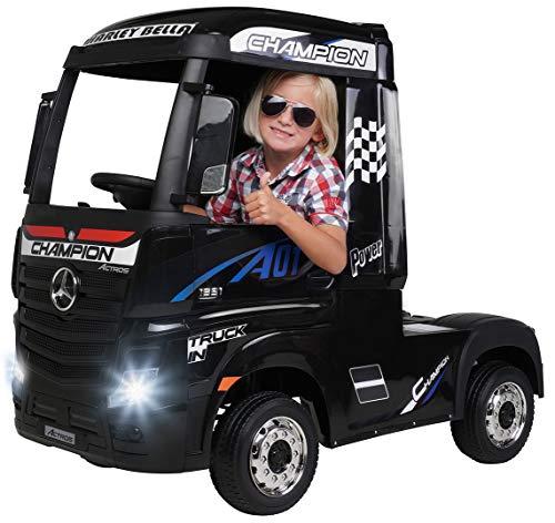 Actionbikes Motors Kinder Elektroauto Mercedes Benz Actros Truck LKW - Lizenziert - 4 x 45 Watt Motor - Allrad...