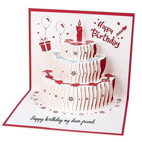 Geburtstagskarte Weihnachtskarten, 3d Pop up Hochzeitskarte für die meisten Anlässe, Romantik Faltkarte...