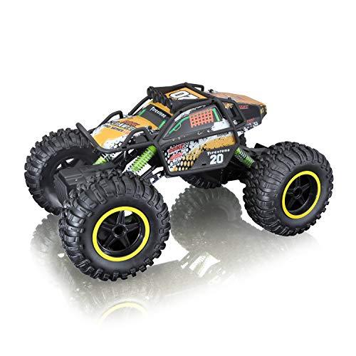 Maisto Tech R/C Rock Crawler Pro Series: Ferngesteuertes Auto in Monstertruck-Ausführung, mit Allradantrieb...